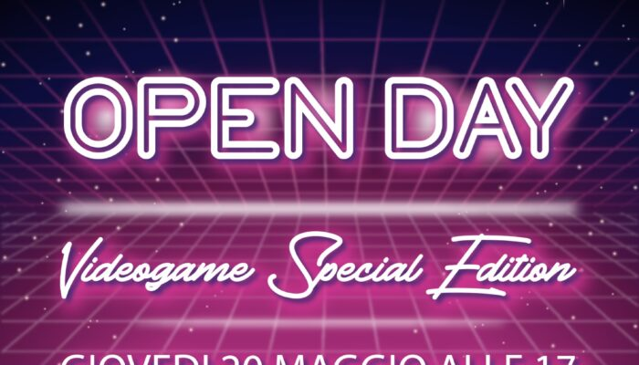 Open Day 20 Maggio Area Videogame – TheSIGN Academy